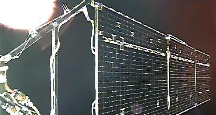 Painéis solares das câmeras de monitoramento
