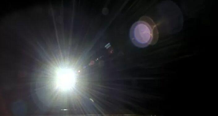Vista do Sol a partir da espaçonave chinesa Chang'e 5