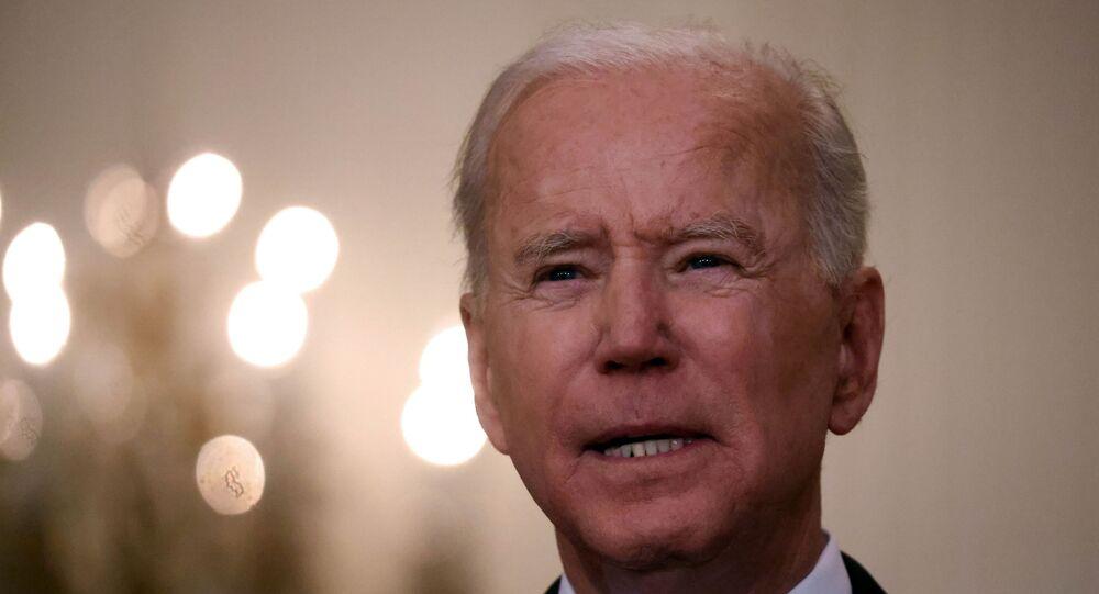 Presidente dos EUA, Joe Biden, na Casa Branca em Washington, EUA, em 17 de maio de 2021