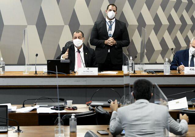 A CPI da Covid realiza oitiva do ex-ministro das Relações Exteriores do Brasil, Ernesto Araújo.