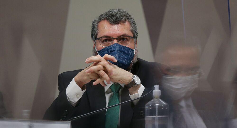 CPI da Covid no Senado ouve o ex-ministro das Relações Exteriores Ernesto Araújo, em Brasília (DF)