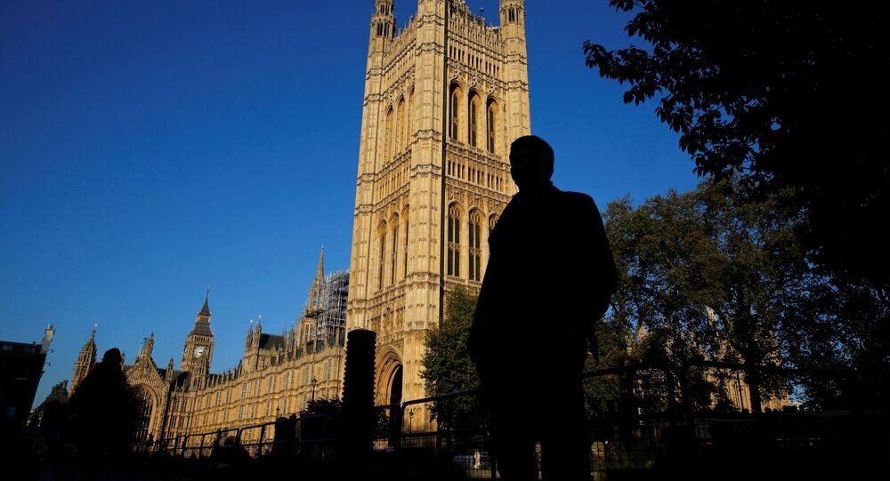 Casas do Parlamento no centro de Londres, Reino Unido, 26 de outubro de 2015