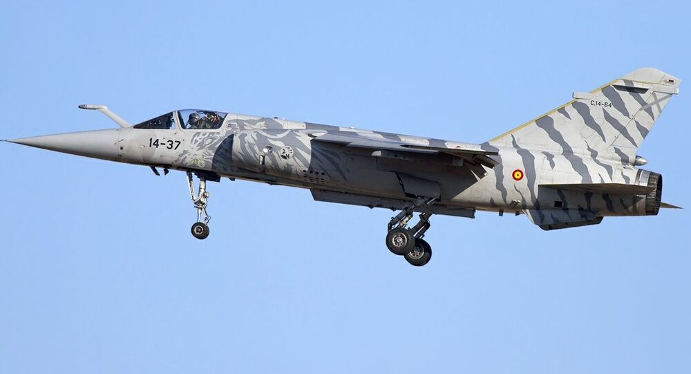 Jato Mirage F1M da Força Aérea espanhola