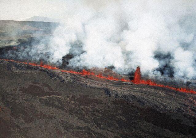 Mauna Loa o maior vulcão em escudo na Terra