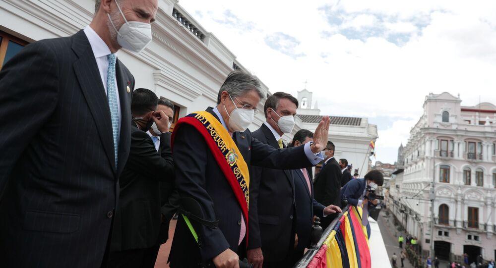 Guilherme Lasso toma posse como presidente do Equador, em Quito, em cerimônia que contou com presença do presidente Jair Bolsonato