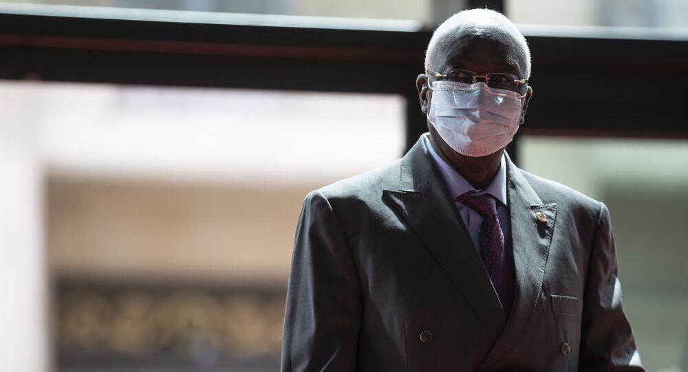 O presidente interino do Mali, Bah N'Daw, durante participação em evento em Paris, França, em 18 de maio de 2021