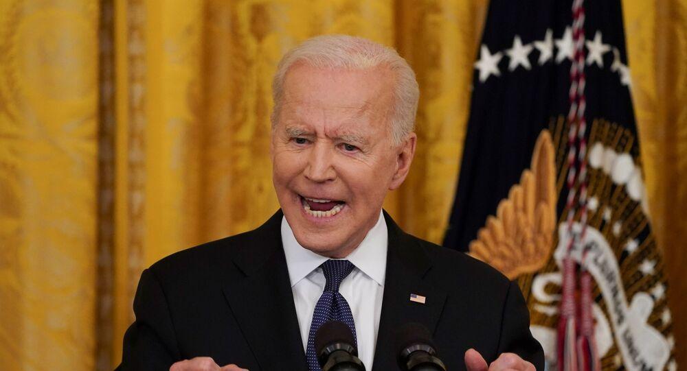 O presidente dos Estados Unidos, Joe Biden, durante discurso na Casa Branca, em Washington, em 20 de maio de 2021