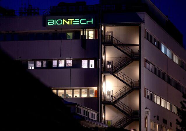 Vista do prédio de biotecnologia da BioNTech onde foi iniciada a produção da vacina COVID-19, em Marburg, na Alemanha, 13 de fevereiro de 2021