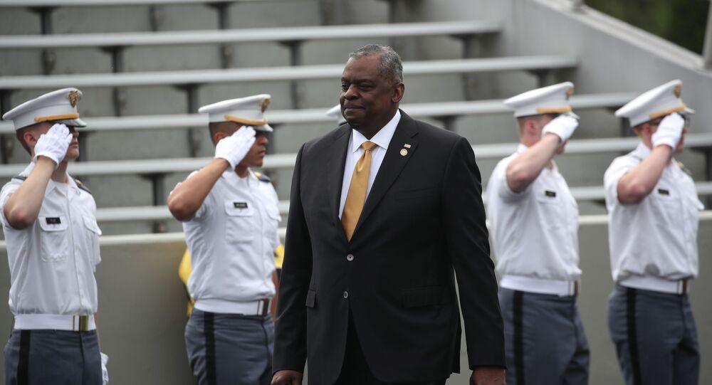 Lloyd J. Austin III, secretário de Defesa dos Estados Unidos, durante formatura na Academia Militar de West Point, em Nova York, em 22 de maio de 2021