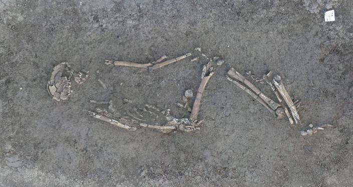 Esqueleto encontrado em antigo assentamento da Idade da Pedra, na França