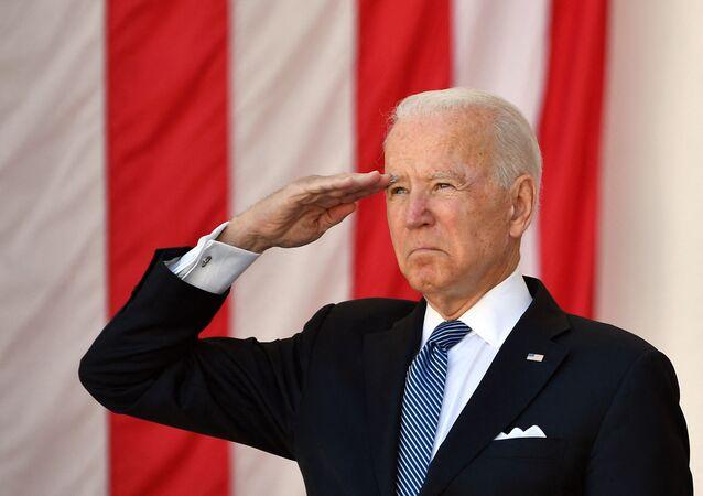 Presidente dos EUA, Joe Biden, durante o discurso no Dia da Memória, 31 de maio de 2021