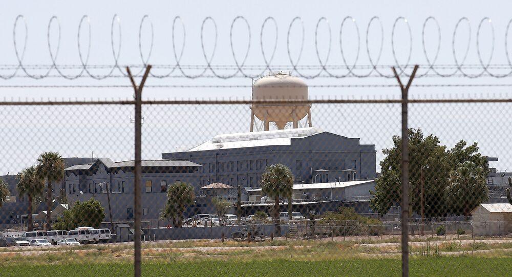 Prisão estadual em Florença, Arizona, EUA, 23 de julho de 2014