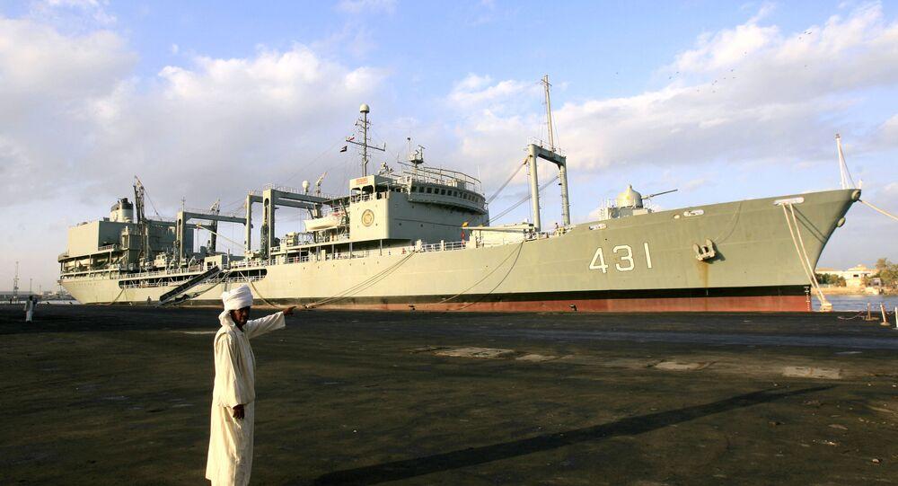 Navio de apoio, Kharg 431, da Marinha do Irã