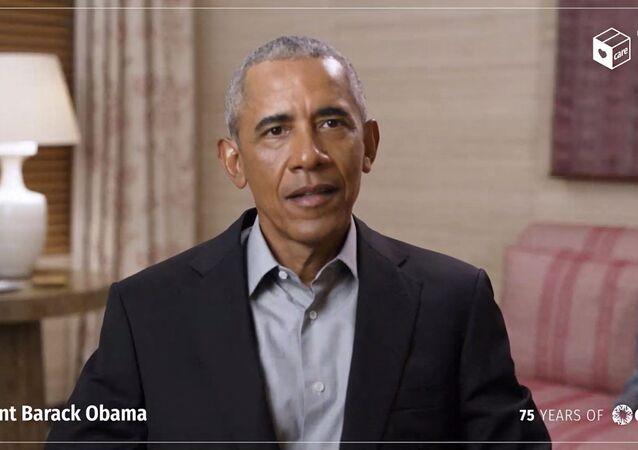 Barack Obama, ex-presidente dos EUA, fala em Nova York, EUA, 11 de maio de 2021