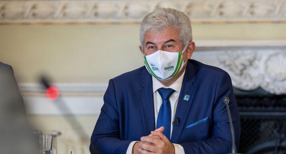 Marcos Pontes, ministro da Ciência, Tecnologia e Inovações, em Lisboa, em 1º de junho de 2021
