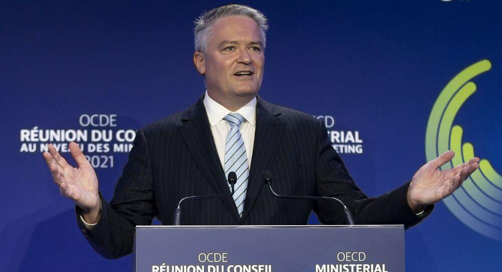 Novo secretário-geral da OCDE, Mathias Cormann, discursa durante cerimônia de posse em Paris, França