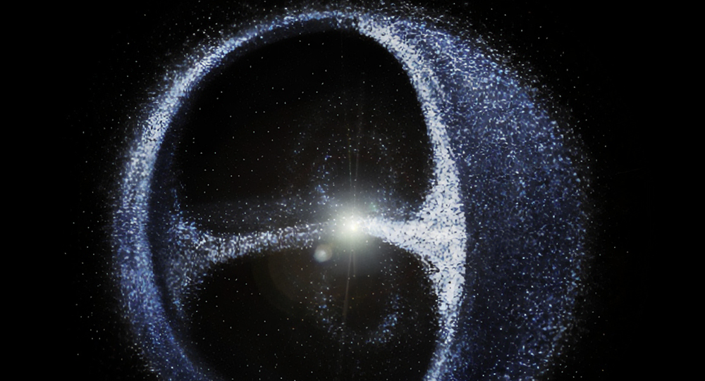 Ilustração artística da nuvem de Oort