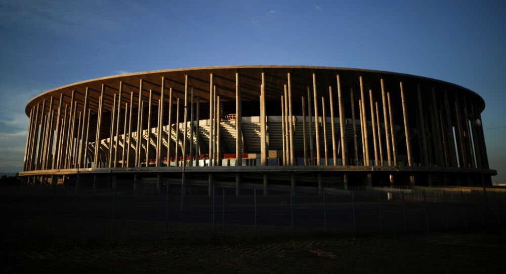 Vista geral do Estádio Nacional Mané Garrincha, Brasília, que receberá alguns jogos da Copa América, 3 de junho de 2021