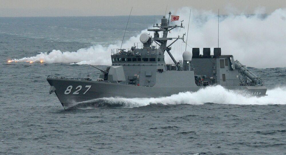 Navio de mísseis, Kumataka, da Força Marítima de Autodefesa do Japão