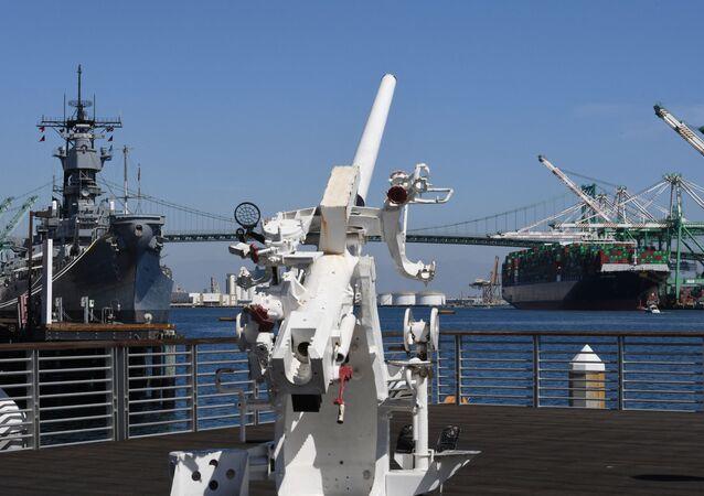 Navio couraçado USS Iowa, da Marinha dos EUA