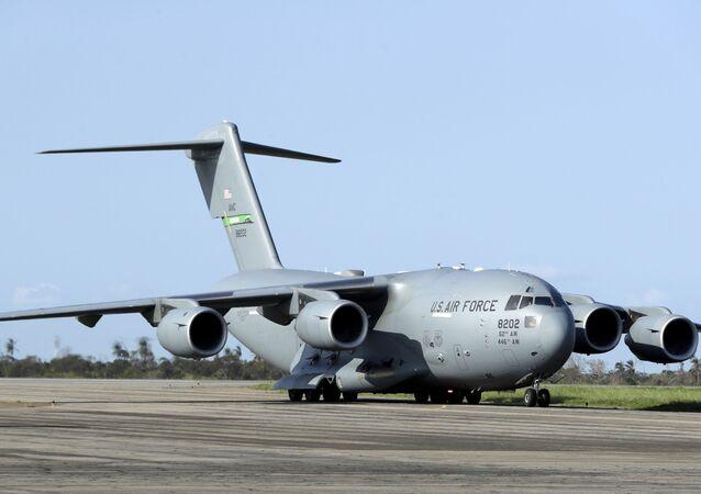Avião Boeing C-17A Globemaster III da Força Aérea dos EUA