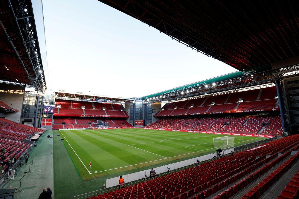 Estádio Telia Parken em Copenhague, Dinamarca, 8 de setembro de 2020