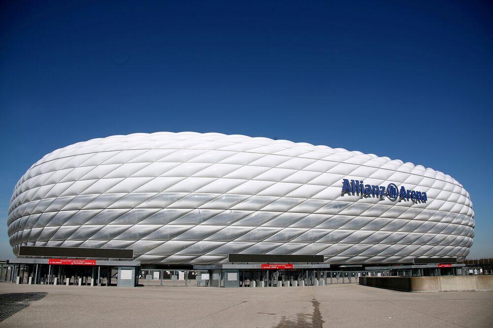 Allianz Arena, estádio de futebol em Munique, Alemanha, sede do campeonato Euro 2020