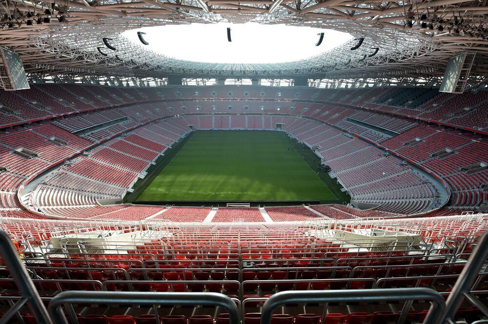 Estádio de futebol Puskás Ferenc Arena em Budapeste, Hungria