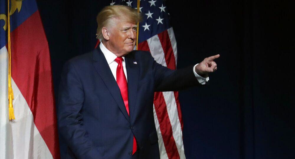 Ex-presidente Donald Trump na convenção do Partido Republicano em  Carolina do Norte, EUA, no sábado, 5 de junho de 2021
