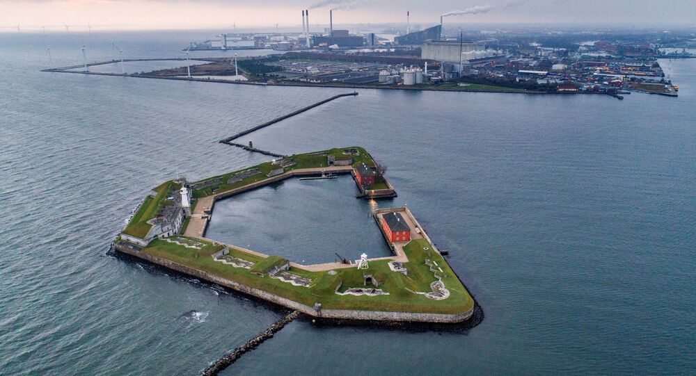 Região do porto de Copenhague,onde será construída a ilha artificial, Lynetteholm