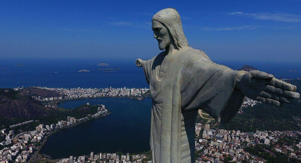 Cristo Redentor no Rio de Janeiro, Brasil