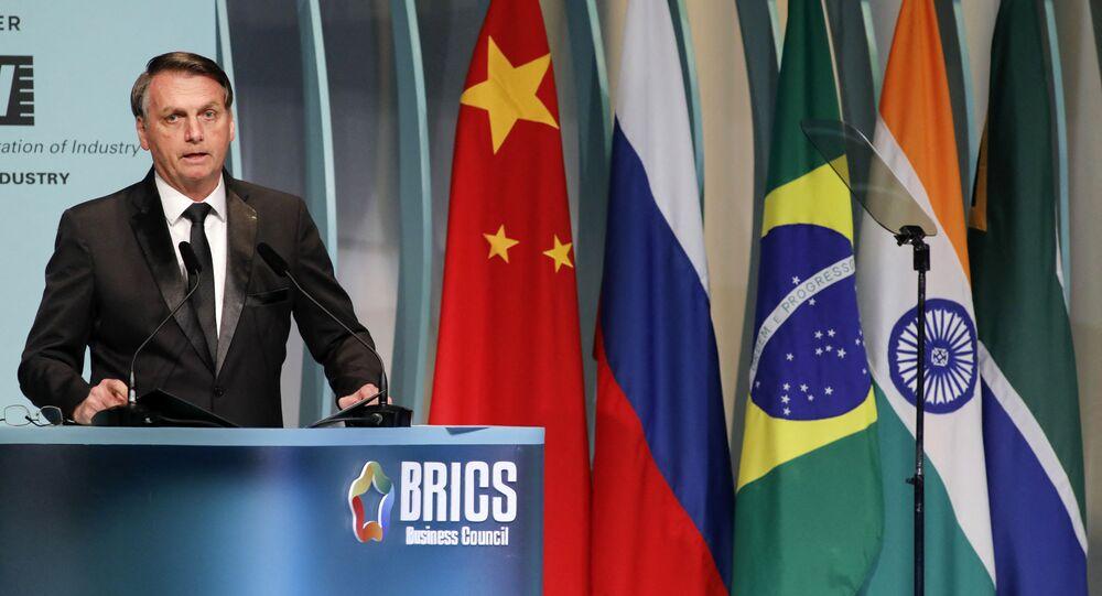 Presidente Jair Bolsonaro antes da Cúpula  do BRICS em Brasília, 13 de novembro de 2019
