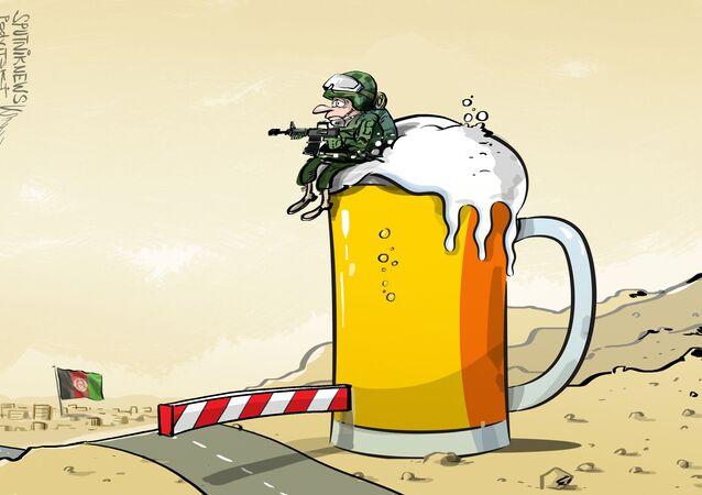 Alemanha acumula cerveja no afeganistão