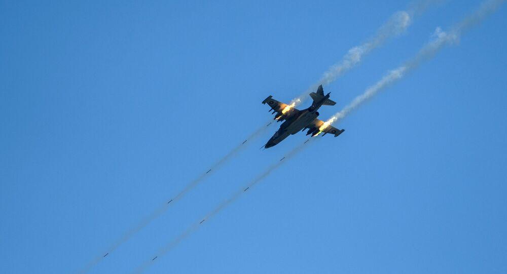 Caça da Força Aérea da Bulgária Su-25