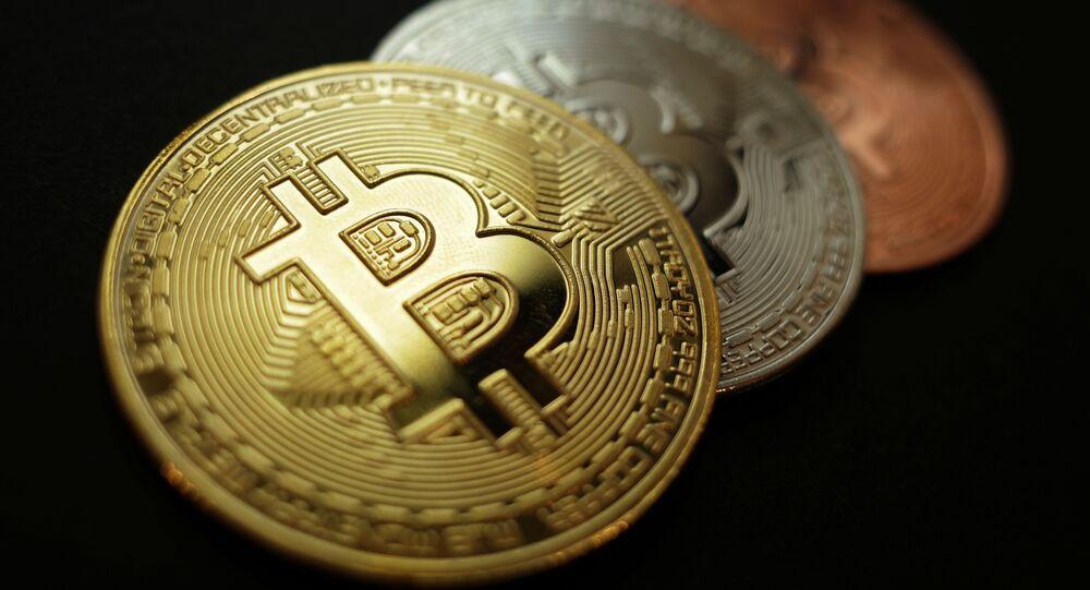 Representação das criptomoedas de Bitcoin