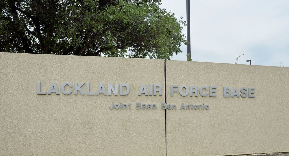 Base da Força Aérea de Lackland em San Antonio, Texas. Foto de Arquivo