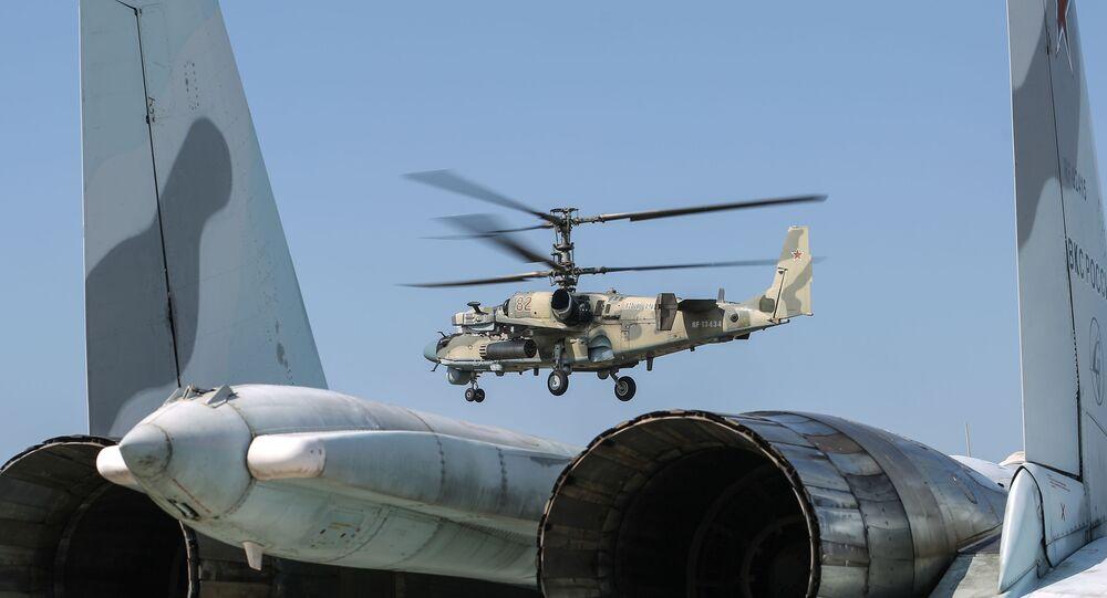 Helicóptero de reconhecimento e ataque russo Ka-52M