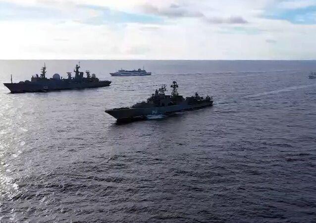 Manobras navais da Frota russa na parte central do Pacífico, 10 de junho de 2021