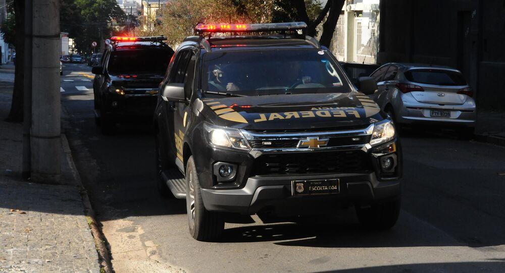 Movimentação de policiais federais em Campinas (SP)