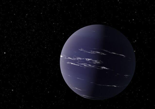 Ilustração artística do exoplaneta TOI-1231 b