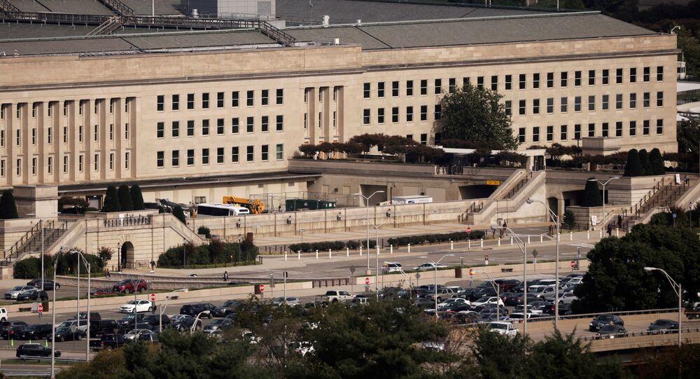 Prédio do Pentágono em Arlington, Virgínia, EUA, 9 de outubro de 2020
