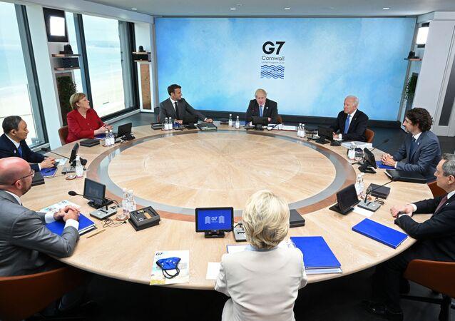 Cúpula do G7 em Carbis Bay, Cornualha, Reino Unido