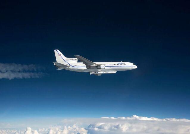 Avião L-1011 Stargazer com o foguete Pegasus XL