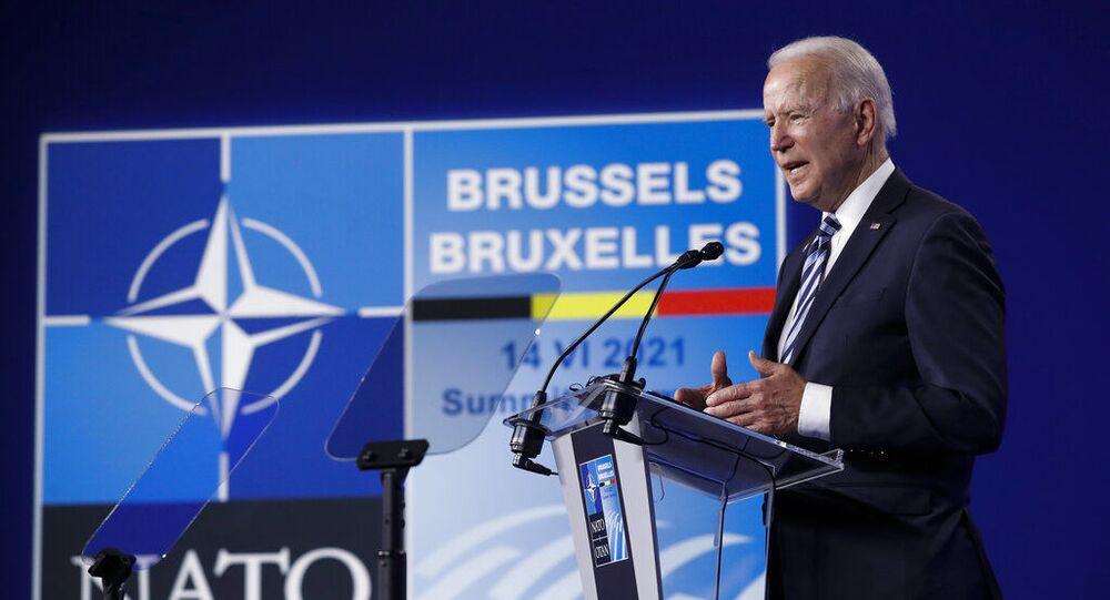 Presidente dos EUA, Joe Biden, durante entrevista coletiva após cúpula da OTAN em Bruxelas, segunda-feira, 14 de junho de 2021