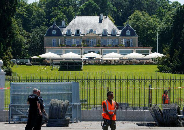 Preparações para a reunião de Joe Biden e Vladimir Putin que vai ocorrer em 16 de junho na Villa La Grange, em Genebra, Suíça