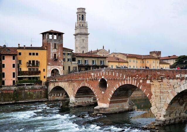 Cidade de Verona, na Itália