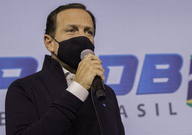 João Doria em evento do PSDB em São Paulo, 14 de junho de 2021