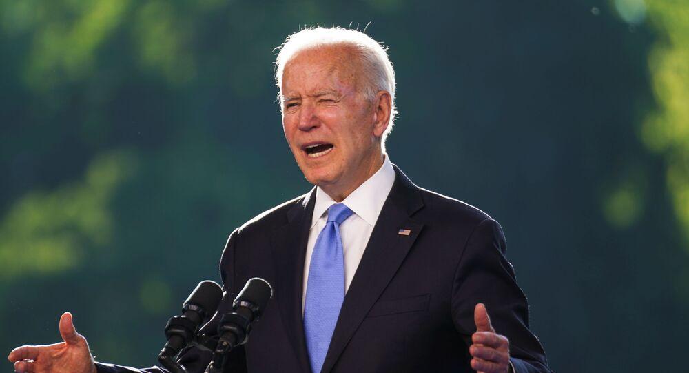 Joe Biden, presidente dos EUA, fala em coletiva de imprensa após cúpula EUA-Rússia em Genebra, Suíça, 16 de junho de 2021