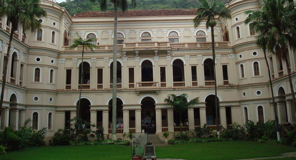 O pátio do sino do Colégio Santo Inácio, na zona sul do Rio de Janeiro