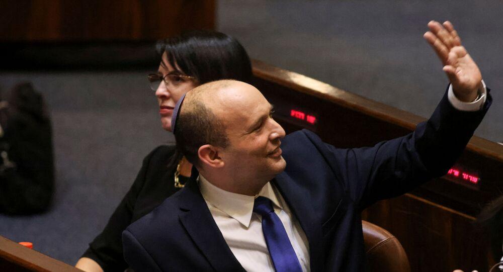 Naftali Bennett, primeiro-ministro de Israel, no Knesset, o Parlamento israelense, em Jerusalém, 13 de junho de 2021